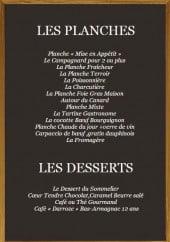 Menu A la cave ... - Les planches et desserts