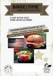 Menu Bagel Time - Carte et menu Bagel Time Levallois Perret