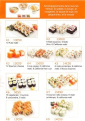 Menu Les Frères Sushi - Les menus: K1, K2, K3,...