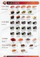 Menu Pause-sushi -