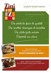 Menu Zini - Carte et menu Zini Levallois Perret