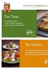 Menu Zini - Les tartes et salades