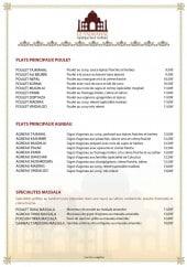 Les entrées, les spécialités tandoori et pains indien