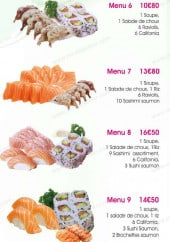 Menu Cent Sushi - Les menu 6 à 10