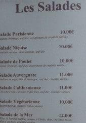 Menu Le saint malo - Salades