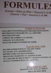 Menu Le saint malo - Formules, entrées, plats,...