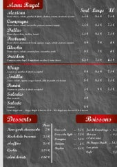 Menu Little bagel - les bagels, desserts et boissons