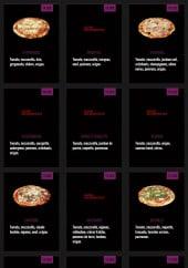Menu Bovinelli - Les pizzas à base tomate suite