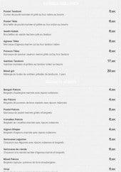 Menu Coussin du Bengale - Entrées et beignets indien