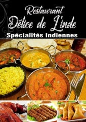 Menu Delice de l' Inde - Carte et menu Delice de l' Inde Courbevoie