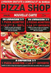 Menu Pizza shop - Carte et menu Pizza shop Courbevoie