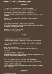Menu Le Plat d'Etain - Entrées, plats et desserts