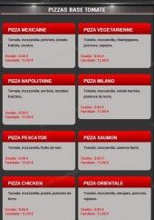 Menu Casa Di Gusto - Les pizzas à base tomate