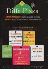 Menu Diffa Pizza - diffa pizza asnieres menu et carte