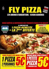Menu Fly Pizza - Carte et menu Fly Pizza Asnieres sur Seine