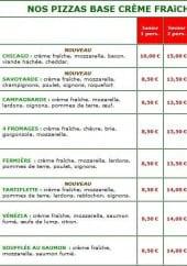 Menu Rapido Pizza - Les Pizzas à Base de Crème Fraiche