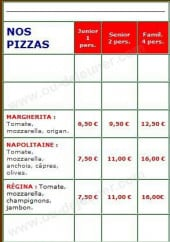Menu Rapido Pizza - Les Pizzas Tomate