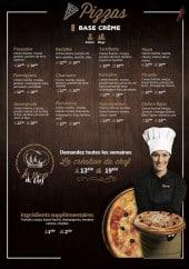 Menu Woodiz - Les pizzas base crème
