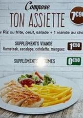 Menu Mouga - Les assiettes et sandwich baguette