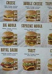 Menu Mouga - Les burgers