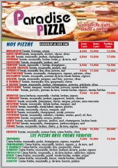 Menu Paradise pizza - Les pizzas