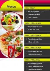 Menu Pizza Casa Lina - Les Menus soir