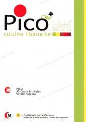 Menu Pico - Carte et menu Pico Puteaux