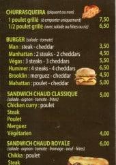Menu Vila Délices - Churrasqueira, burger, sandwiches, tex-mex