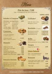 Menu O Grill Oriental - Les salades, couscous,...
