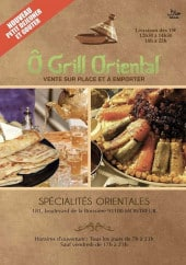 Menu O Grill Oriental - Carte et menu O Grill Oriental Montreuil