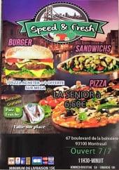 Menu Speed & Fresh - Carte et menu Speed & Fresh Montreuil