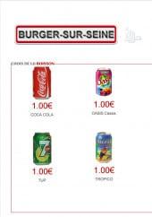 Menu Burger-Sur-Seine - Les boissons