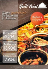 Menu Grill Point - Les buffets