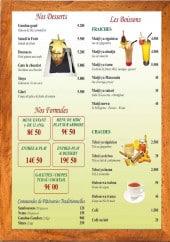 Menu Hawassi - Les desserts, boissons,....