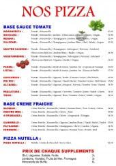 Menu L'etna - Les pizzas