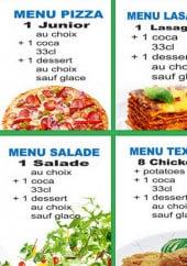 Menu Andiamo Pizza - Les menus