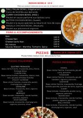Menu indian way restaurant - Pizzas