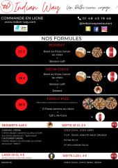 Menu indian way restaurant - Carte et menu livraison indian way restaurant Noisy le Sec