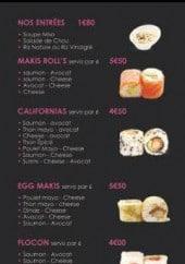 Menu Sushi Dream - Entrées, makis rolls, california,....