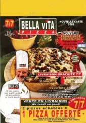 Menu Bella Vita Pizza - bella vita pizza blanc mesnil menu et carte