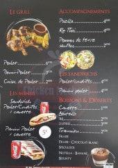 Menu Chicken Mechoui - Le grillade, menus, accompagnements,...