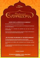 Menu Samsara - Carte et menu Samsara Le Blanc Mesnil