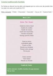 Menu Le petit magot - Les menus