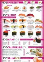 Menu Sushi Wan - Entrées, sushi, ...