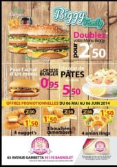 Menu French cantine - Les burgers