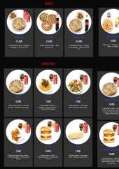 Menu Mangez moi - Les menus