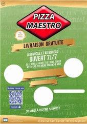 Menu Pizza Maestro - Carte et menu Pizza Maestro Bagnolet