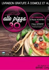 Carte et menu Allo pizza 30' Livry Gargan