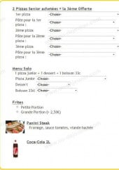 Menu Family Pizza - les best sellers