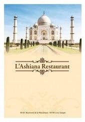 Menu L'ashiana - Carte et menu L'ashiana Livry Gargan